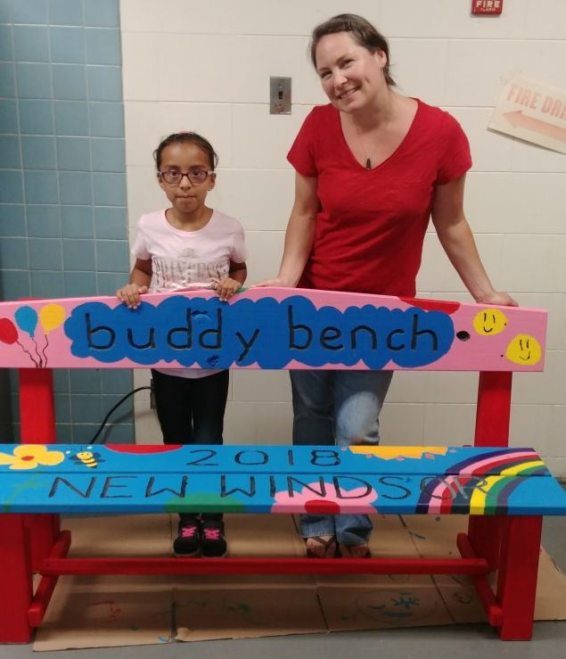 Thumbnail for Contest Winner, Crystal Perez, Designs New Windsor School Buddy Bench