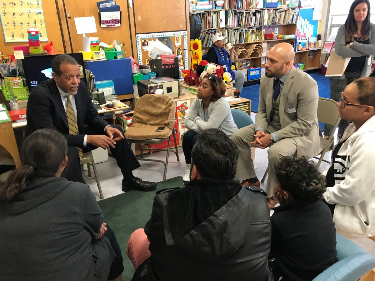 Dr. Ferguson and Dr. Padilla meet with Pre-K children and their parents at Head Start of Eastern Orange County