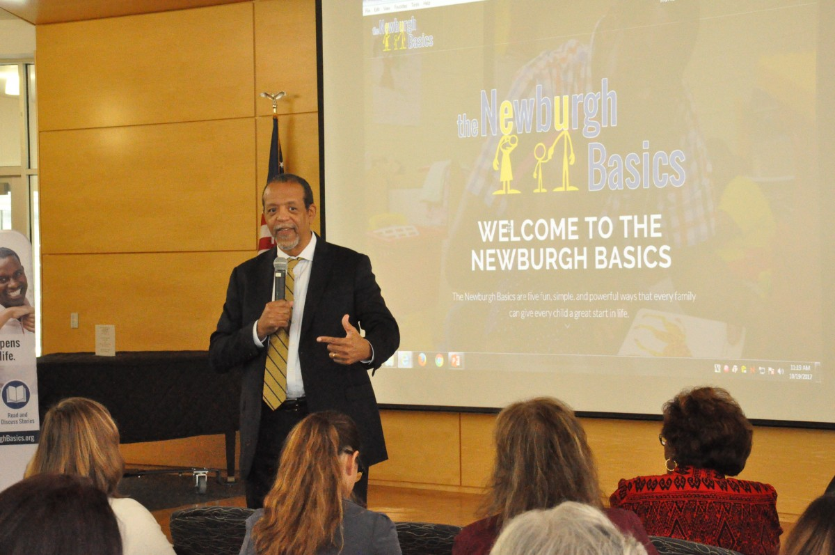 Dr. Ferguson, Founder of the Basics and Director of the Achievement Gap Initiative at Harvard University presents the Newburgh Basics