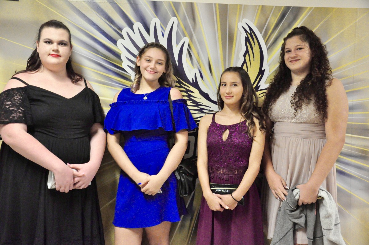 Students pose at inaugural Blue & Gold Gala
