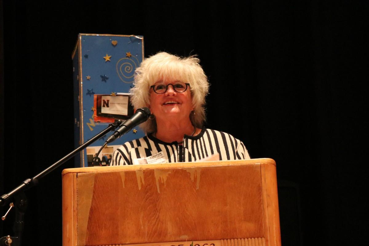 Ms. Rosemarie Posillico, Capital Region Field Representative, CTE TAC addresses the audience.