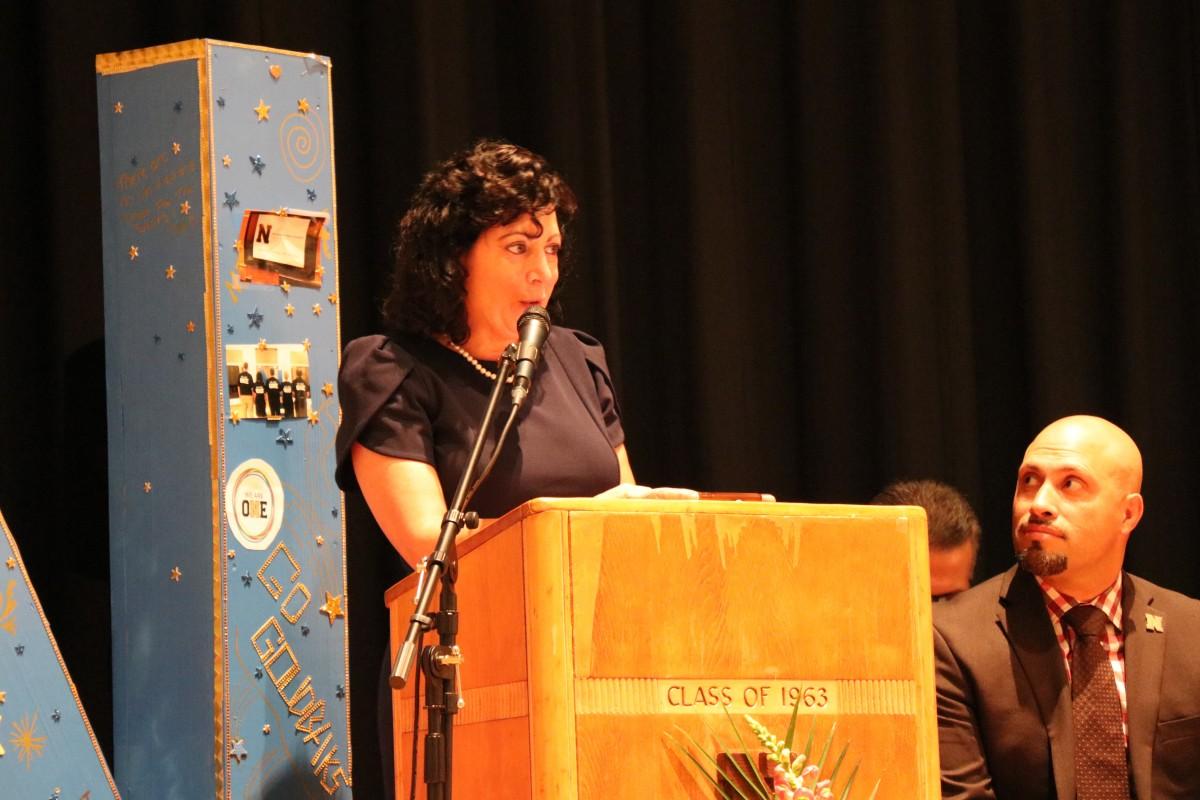 Mrs. Linda Romano addresses the audience.