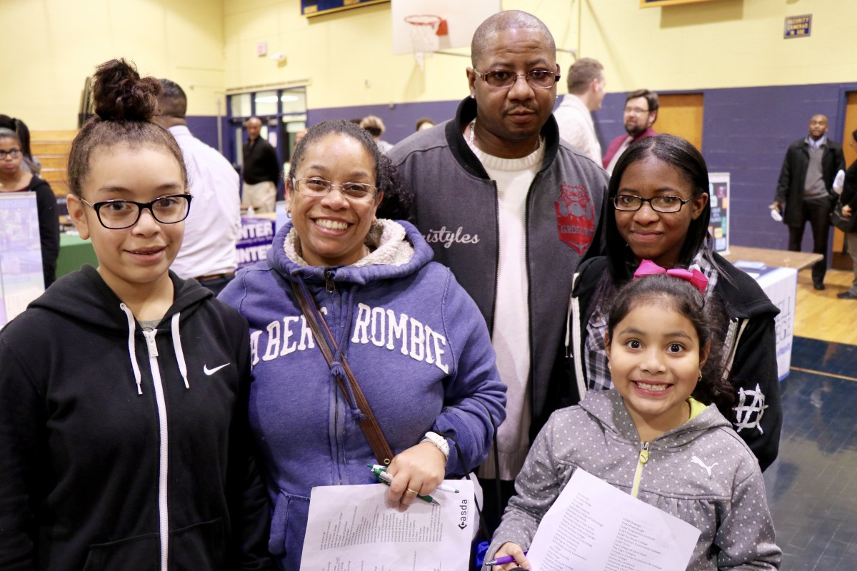 Students and families meet with college and career representatives