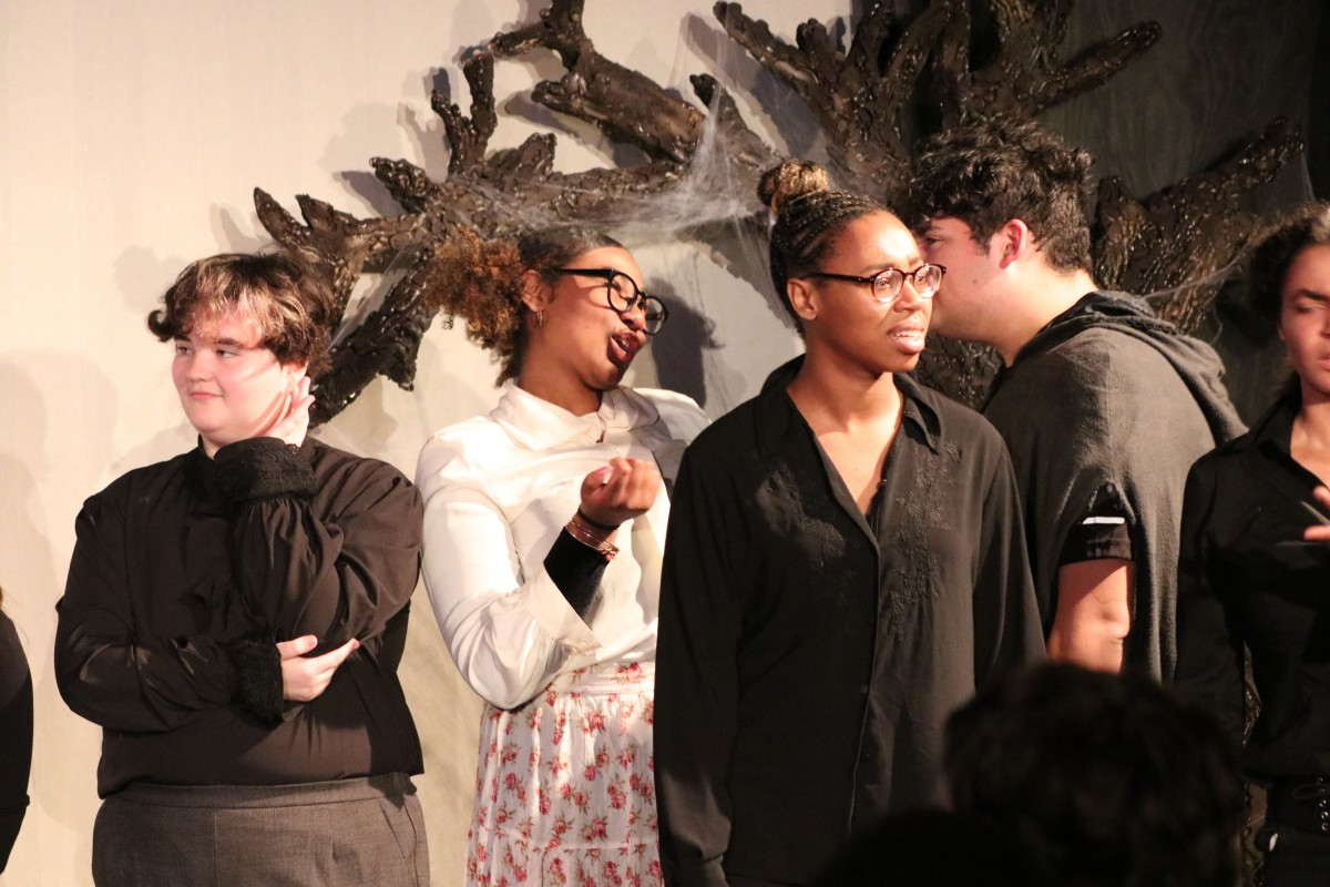 Students perform in the show.