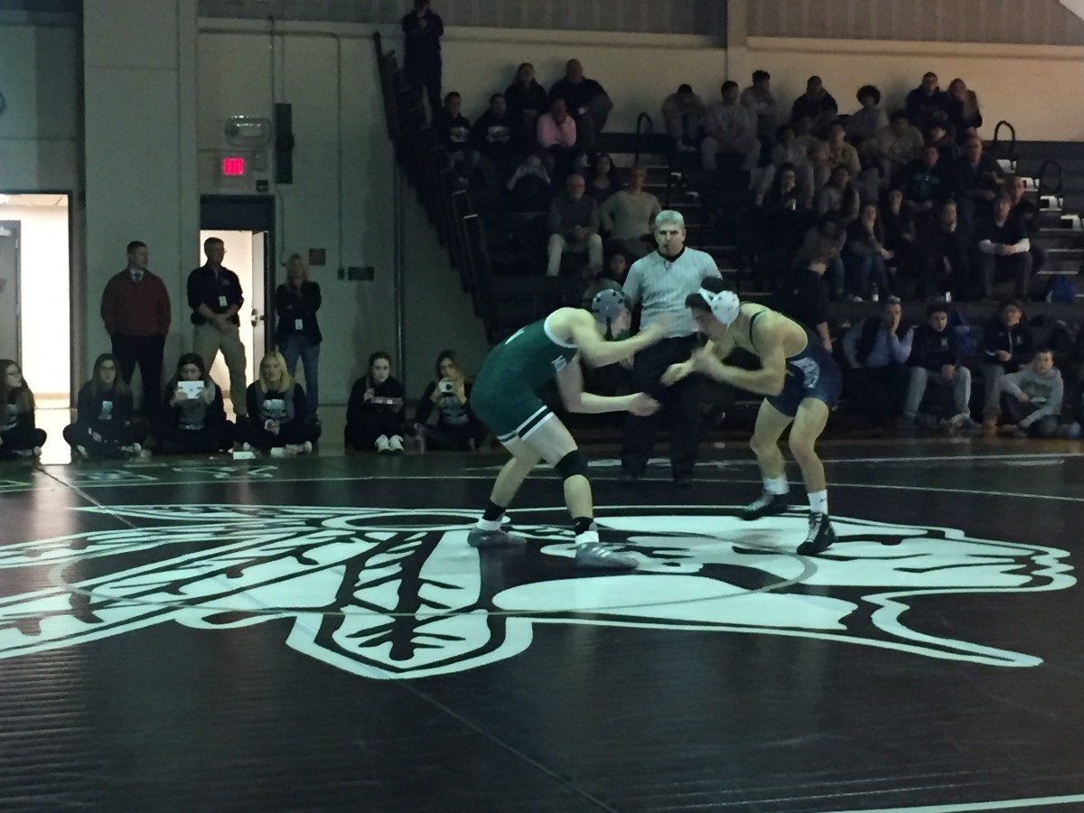 Greg Fischer(113 lbs) defeated the #3 ranked wrestler in Section 9, 2-0