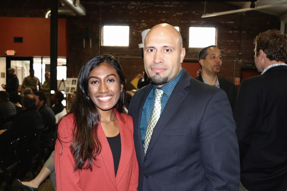 NFA Senior, Supriya Makam stands with Dr. Padilla