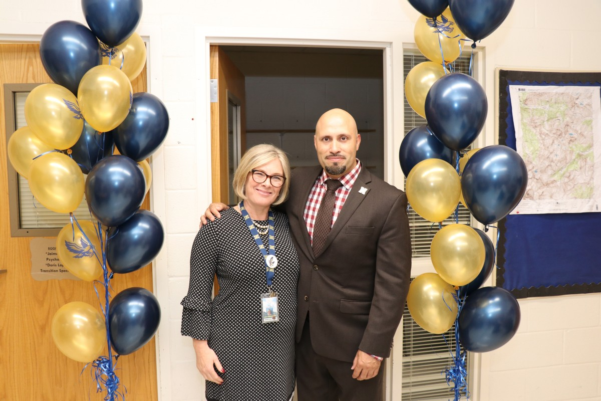 Superintendent Dr. Roberto Padilla and Assistant Superintendent for Curriculum & Instruction Mrs. Andrea Moriarty pose for a photo.