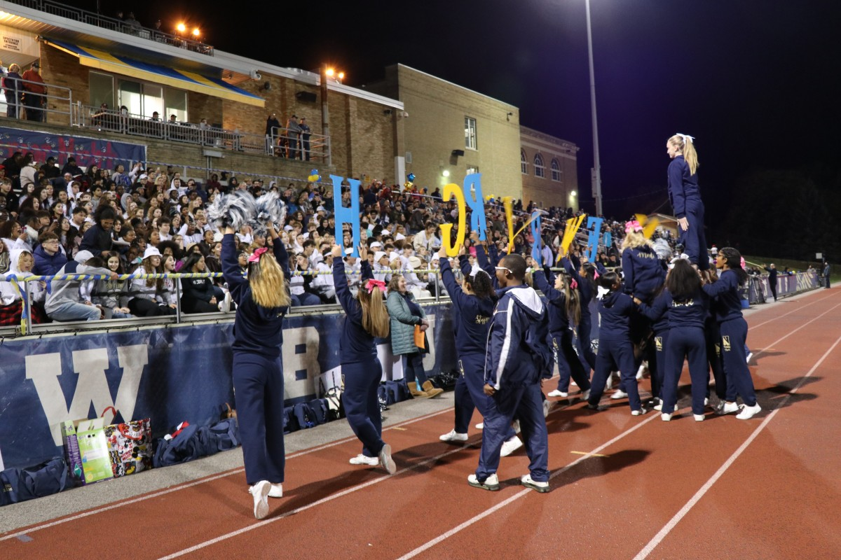 NFA Cheerleaders excite crowd.