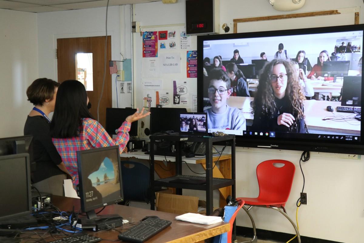 NFA Scholars Skype with Spain