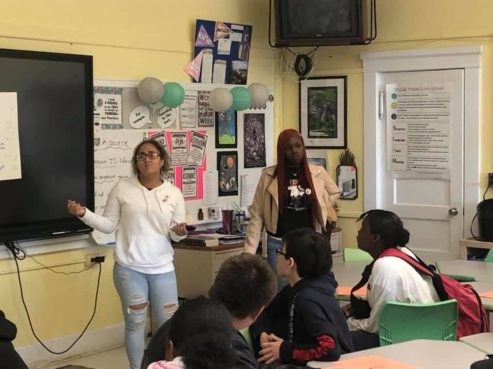 Students facilitate an activity.