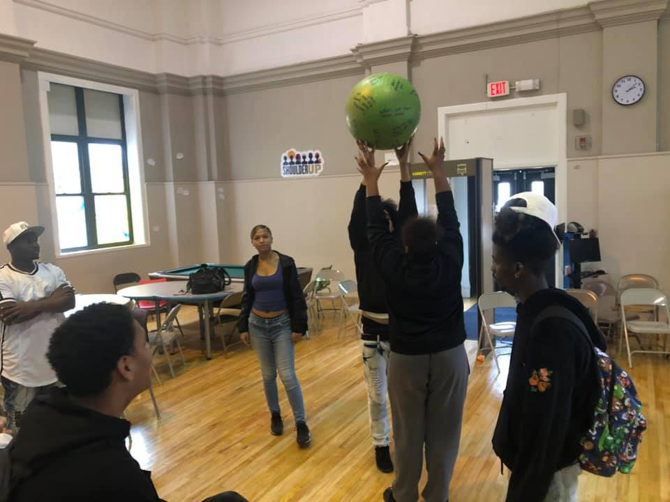 Students participate in activity.
