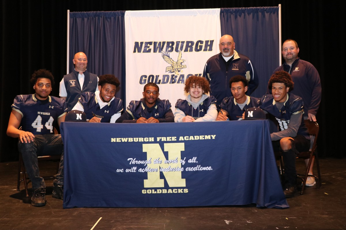 Thumbnail for Six Newburgh Free Academy Football Players Commit to Play in College