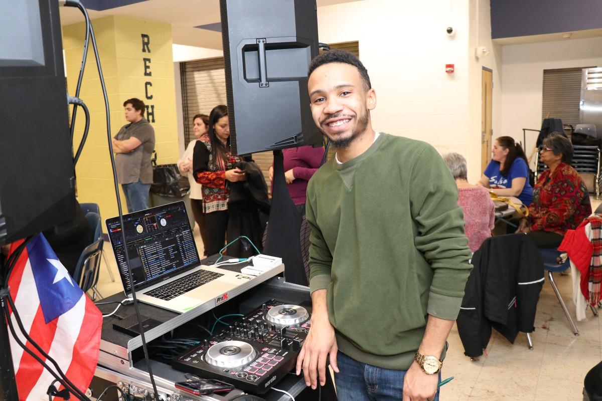 DJ Gianni Perez poses for a photo.