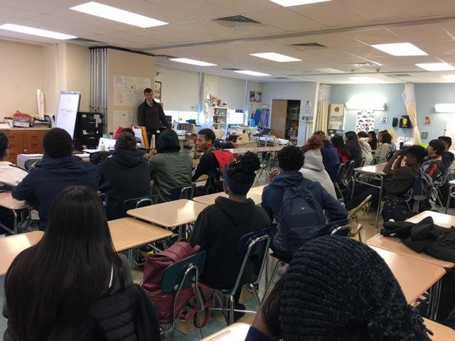 Dr. Conway speaks to students