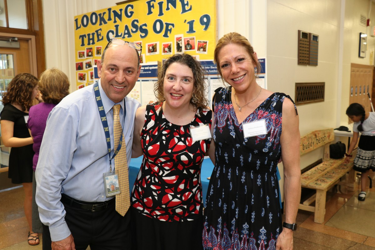 Mr. Al Romano, Director of Science, and teachers, Ms. Kristin Oberle and Ms. Andrea Dunikowski pose for a photo.