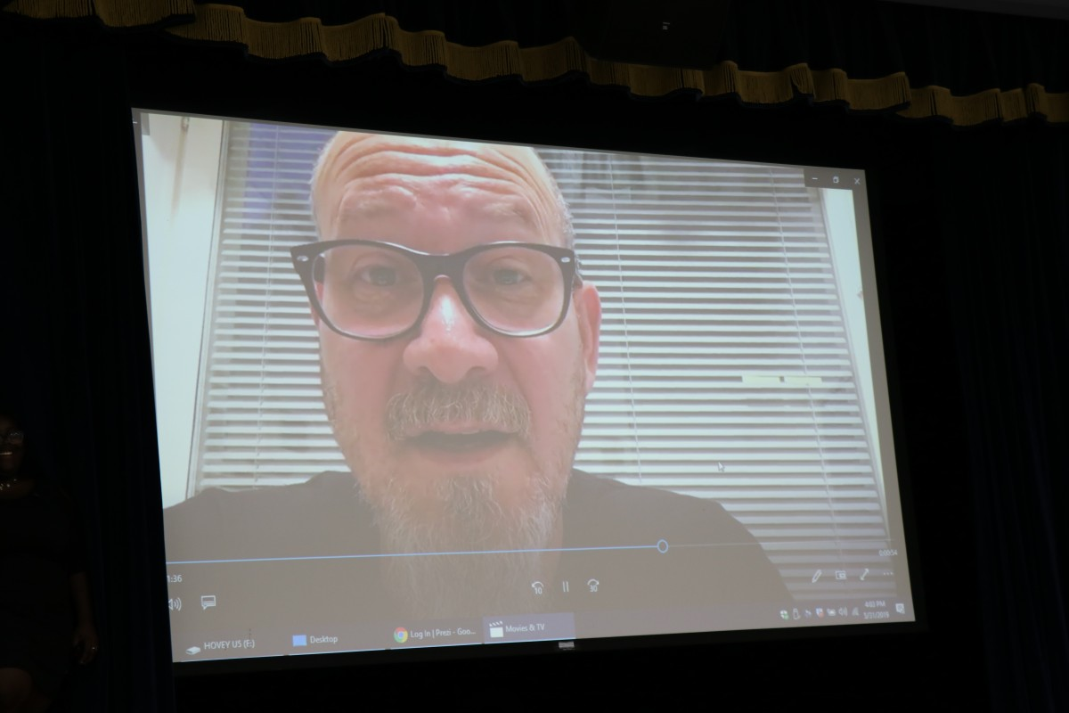 Photo of video from Mr. Freedman.