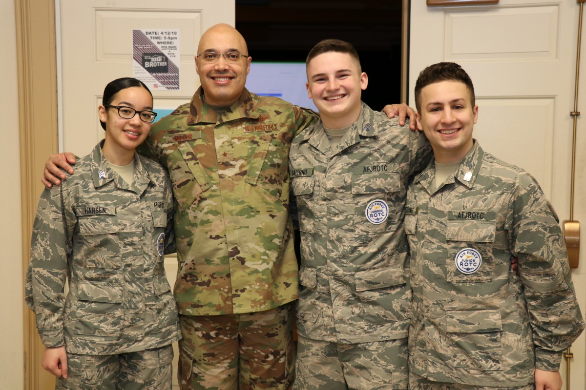 Thumbnail for NFA JROTC and Science Honor Society Scholars Learn From NFA Alumnus, Brigadier General