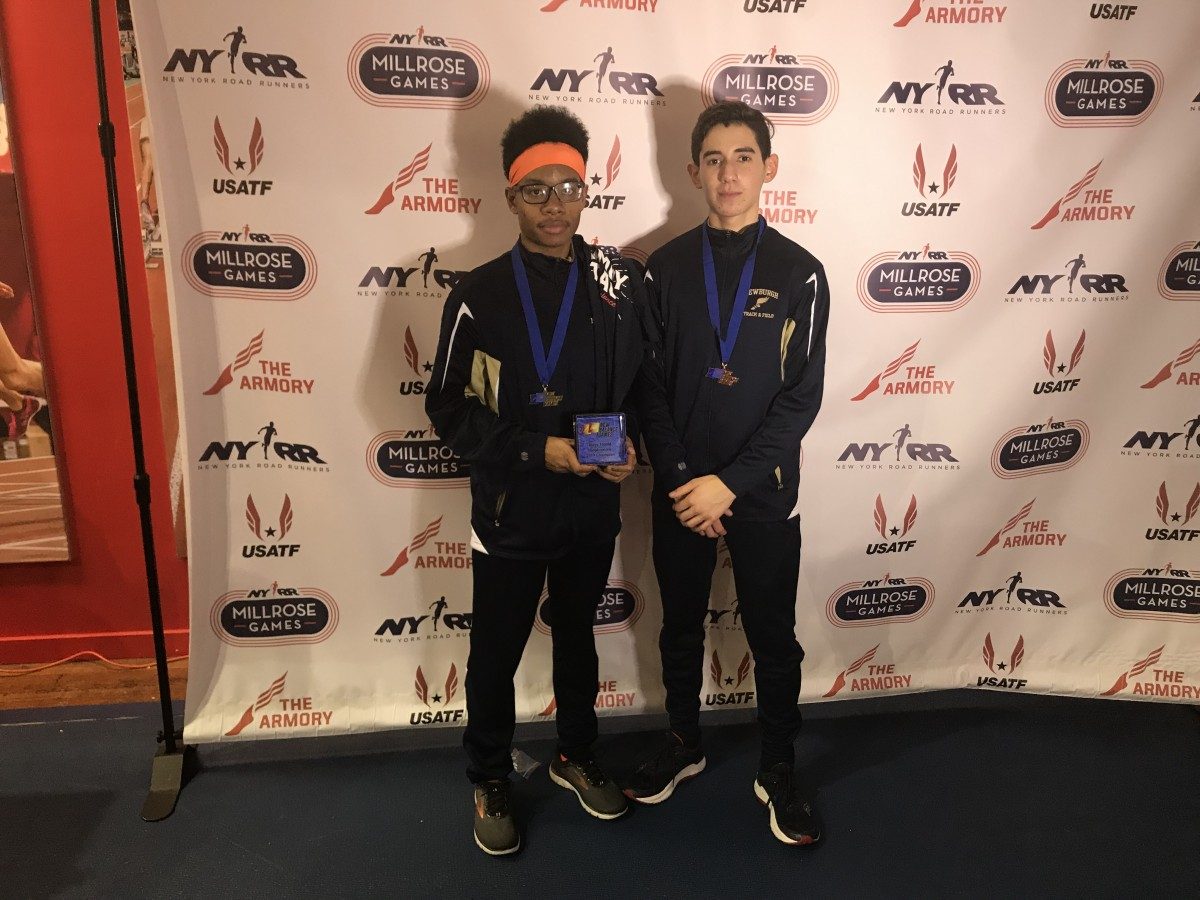 Matthew Haynes won the sophomore boys 1000m run (2:40.19) new school sophomore record and John Abrams place 5th at the New Balance Invitational this weekend.