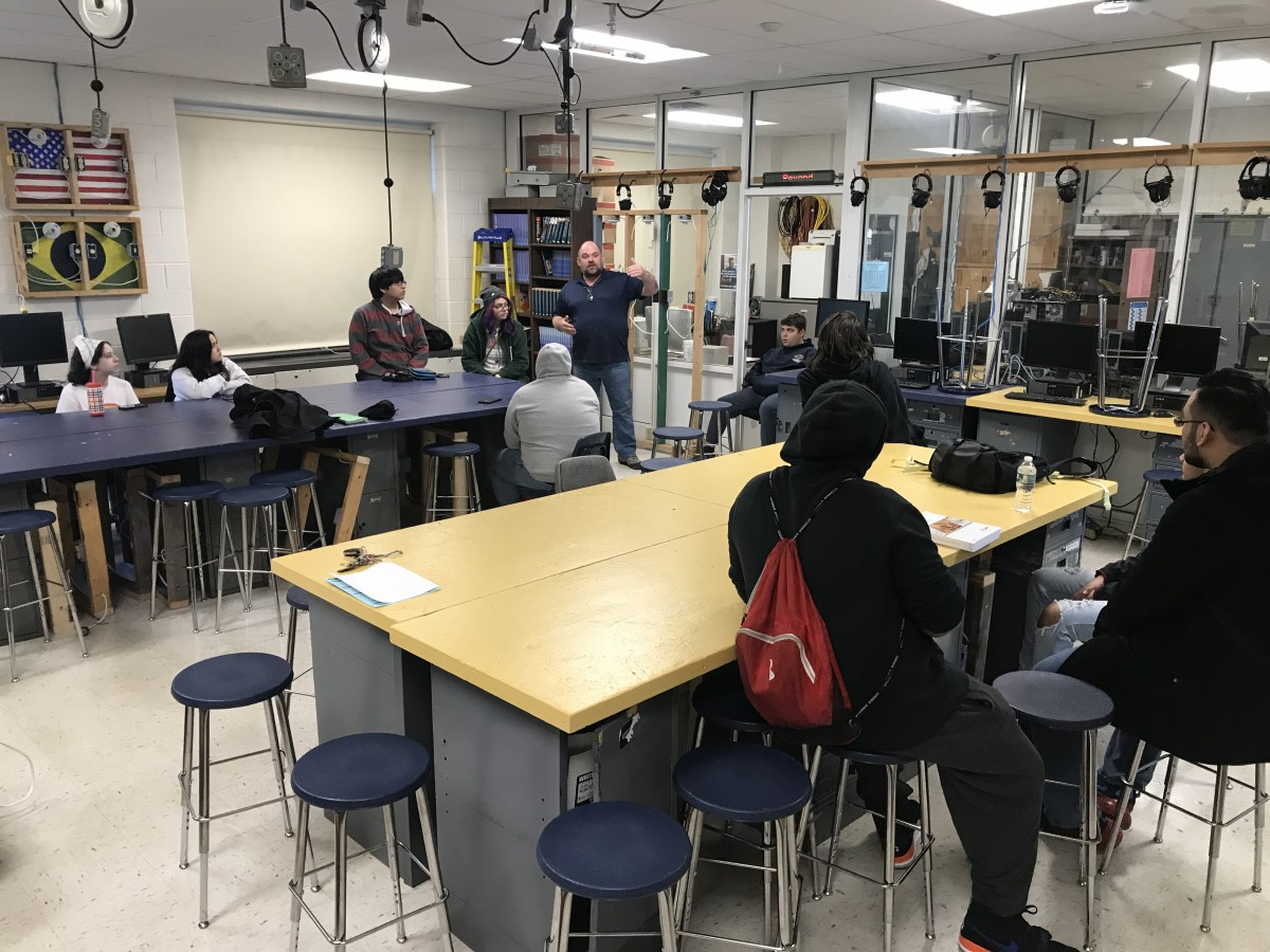 Mr. Kaleia teaches scholars OSHA standards.