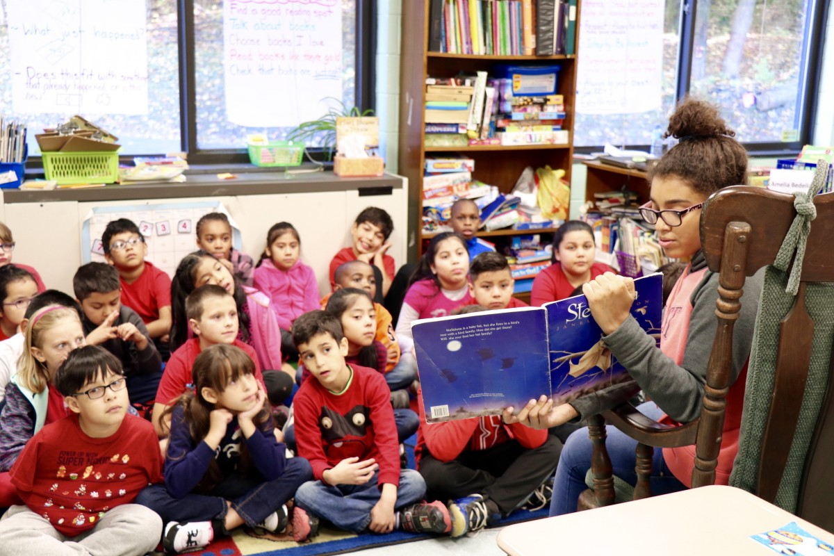 NFA West students read to Balmville students