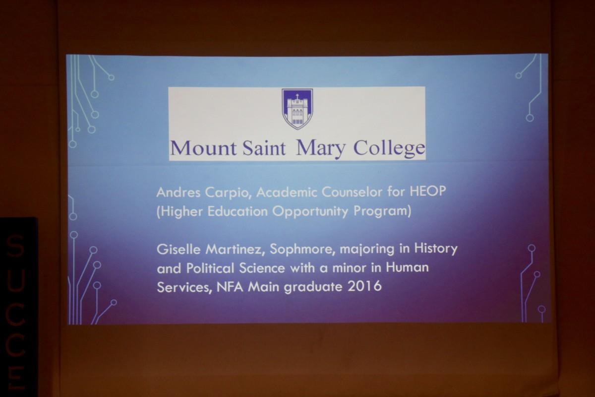 Slide describing panelists