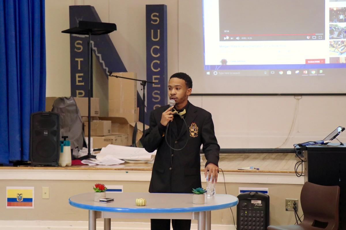 NFA Alumni presents to students