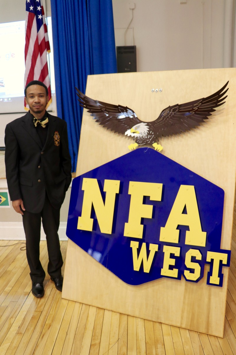 NFA Alumni/Presenter stands by NFA West side