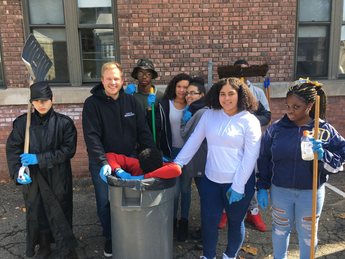 Group of NFA West students clean up surrounding community