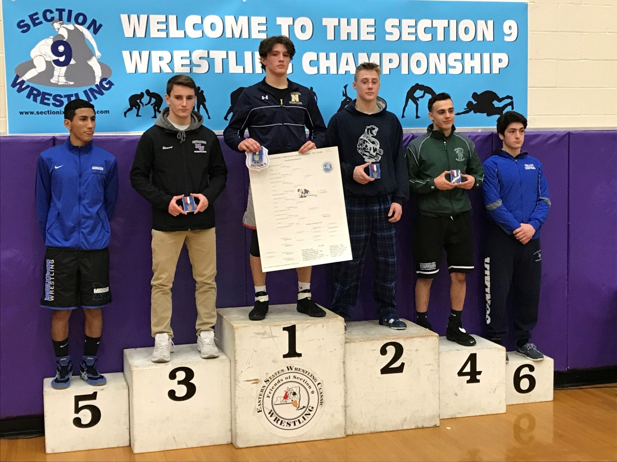 Tyler Serafini 152 lb. Section 9 Champion! Newburgh's first section 9 win since 2015.
