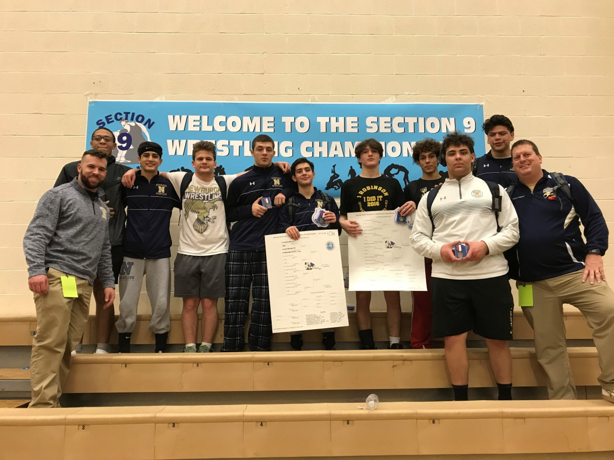 Team picture. Overall, Newburgh Wrestling finished in 3rd Place at the 2018 Section 9 Championships!