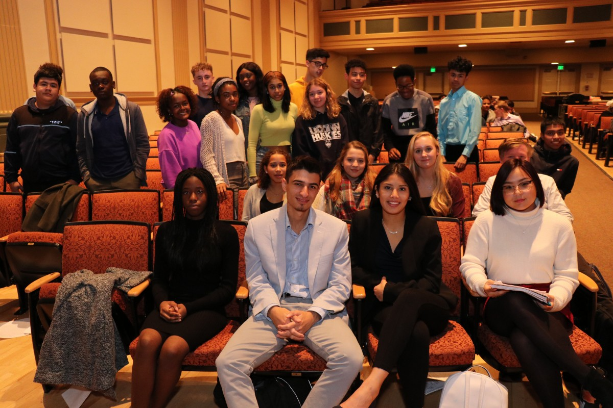 NFA students who participated in Youth in Government pose for a photo.