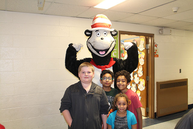 Students participating in activities during Dr. Suess Night 2