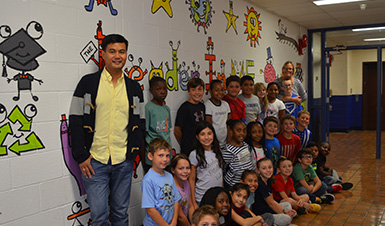 Thumbnail for Artist Bren Bataclan visits Fostertown Elementary School!