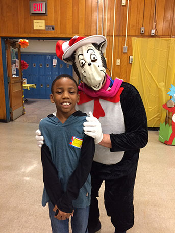 The cat in the hat at Dr. Suess Night