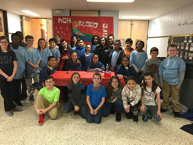 Students who participated in the NFA Blood Drive