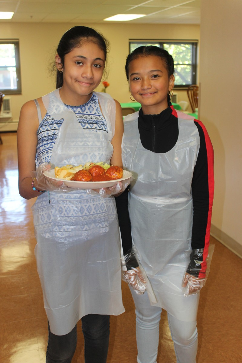 Two students who participated in the event