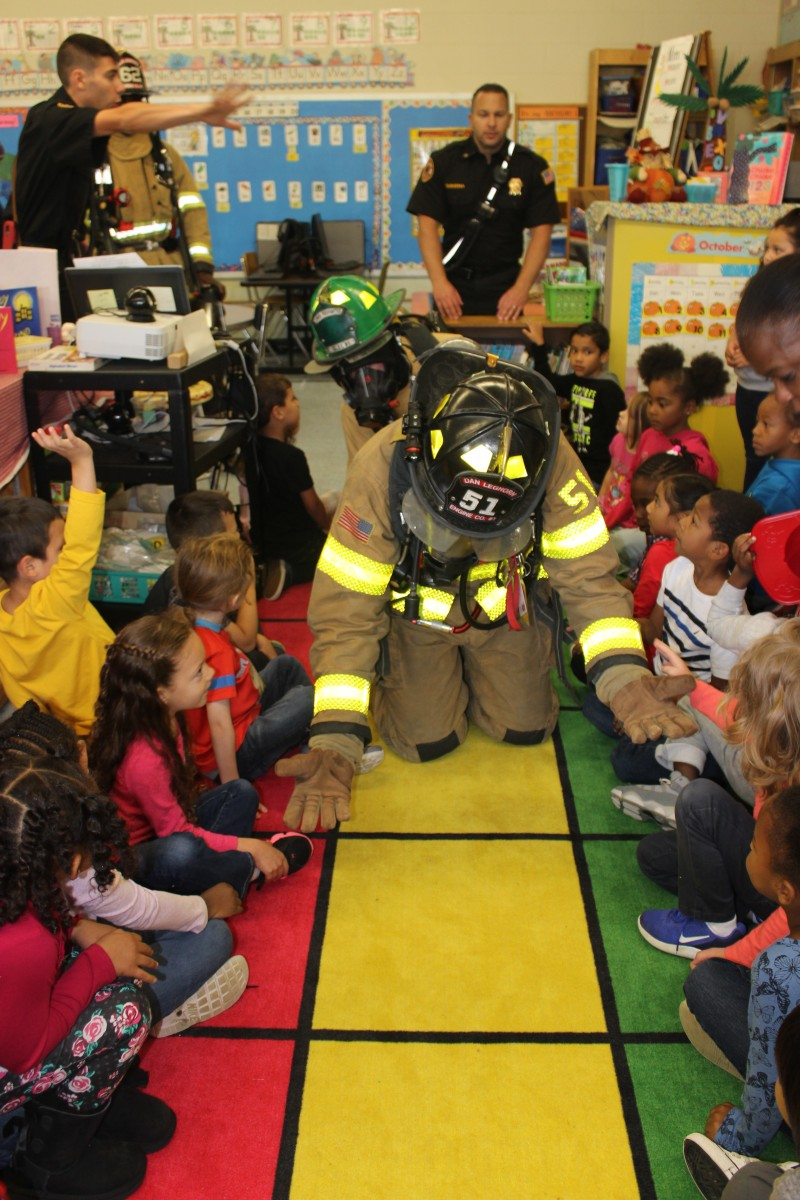 Firefighter in the classroom