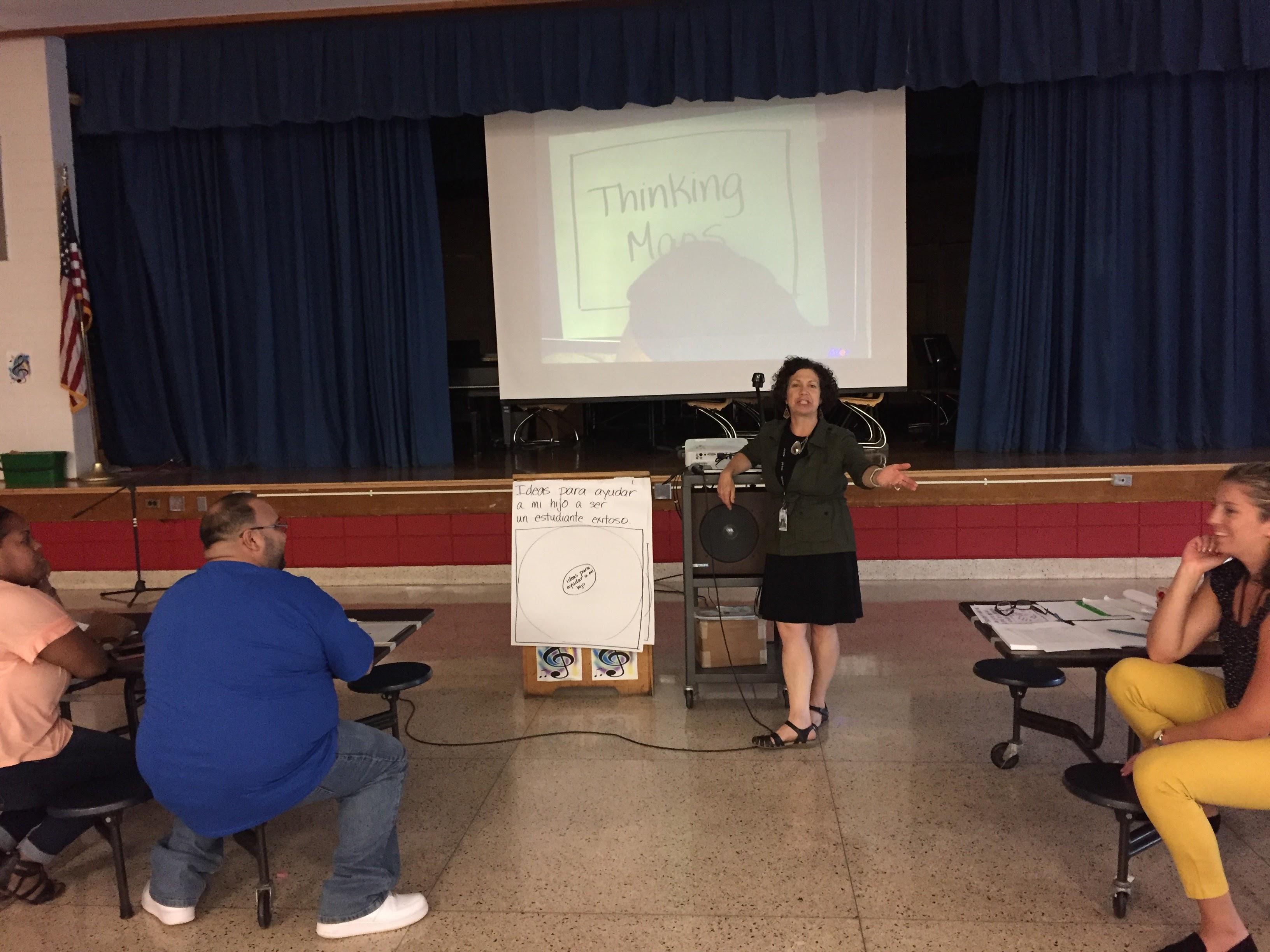A presentation on Thinking Maps at Open House