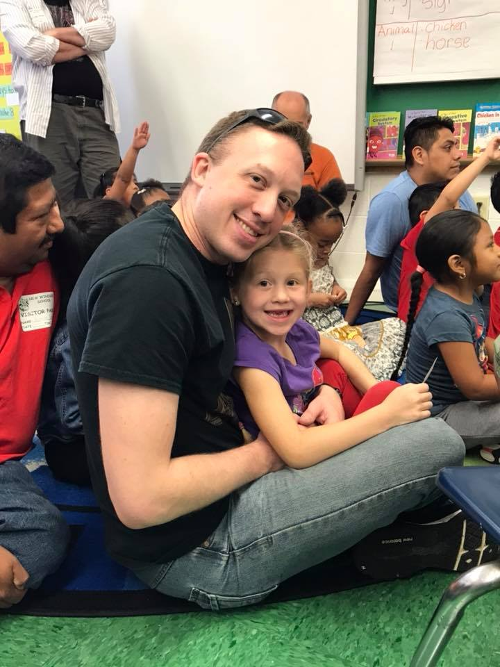 A father and child during the event 6