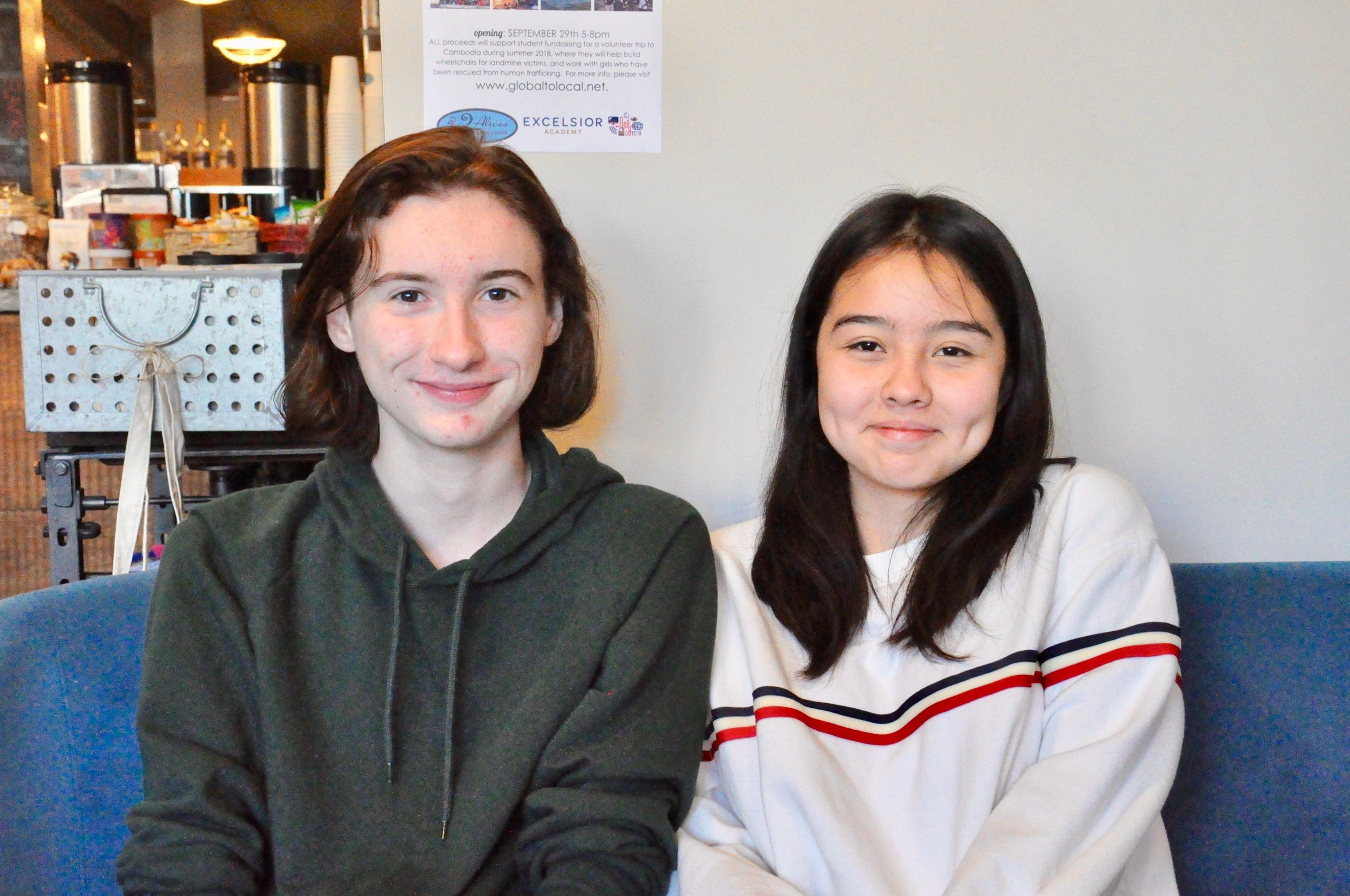 Students Brendin Skalel and Bariella Estrada