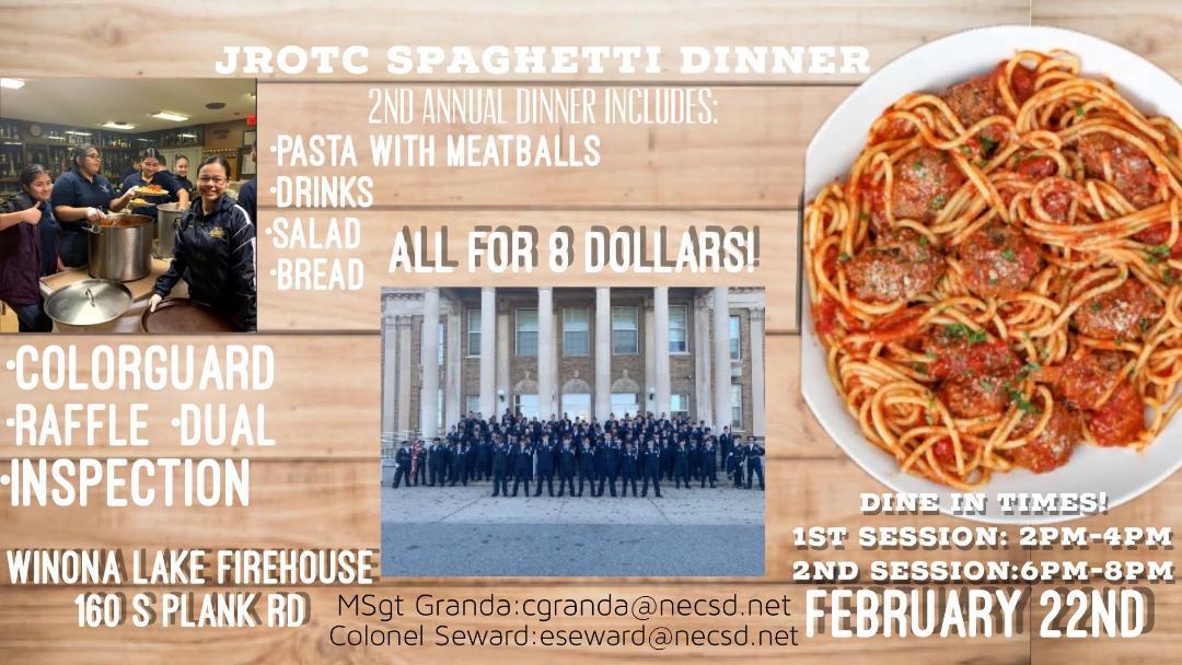 Thumbnail for NFA JROTC Hosting Spaghetti Dinner