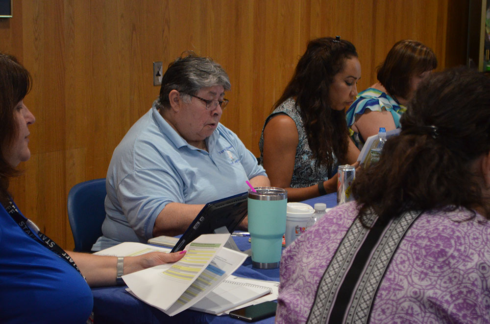 Members of the Strategic Planning Team discuss this year's focus. Photo 7