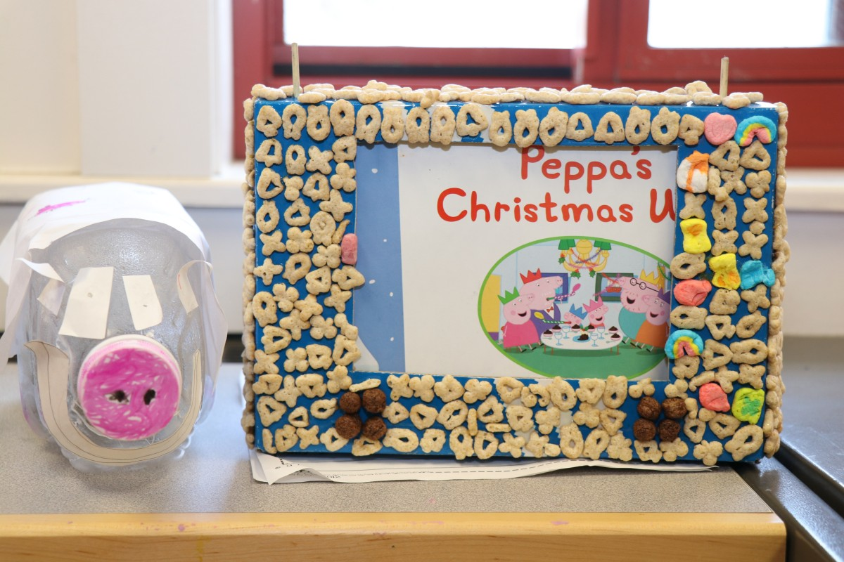 Thumbnail for Mrs. Pearce's Kindergarten Class Recycles Items for Project