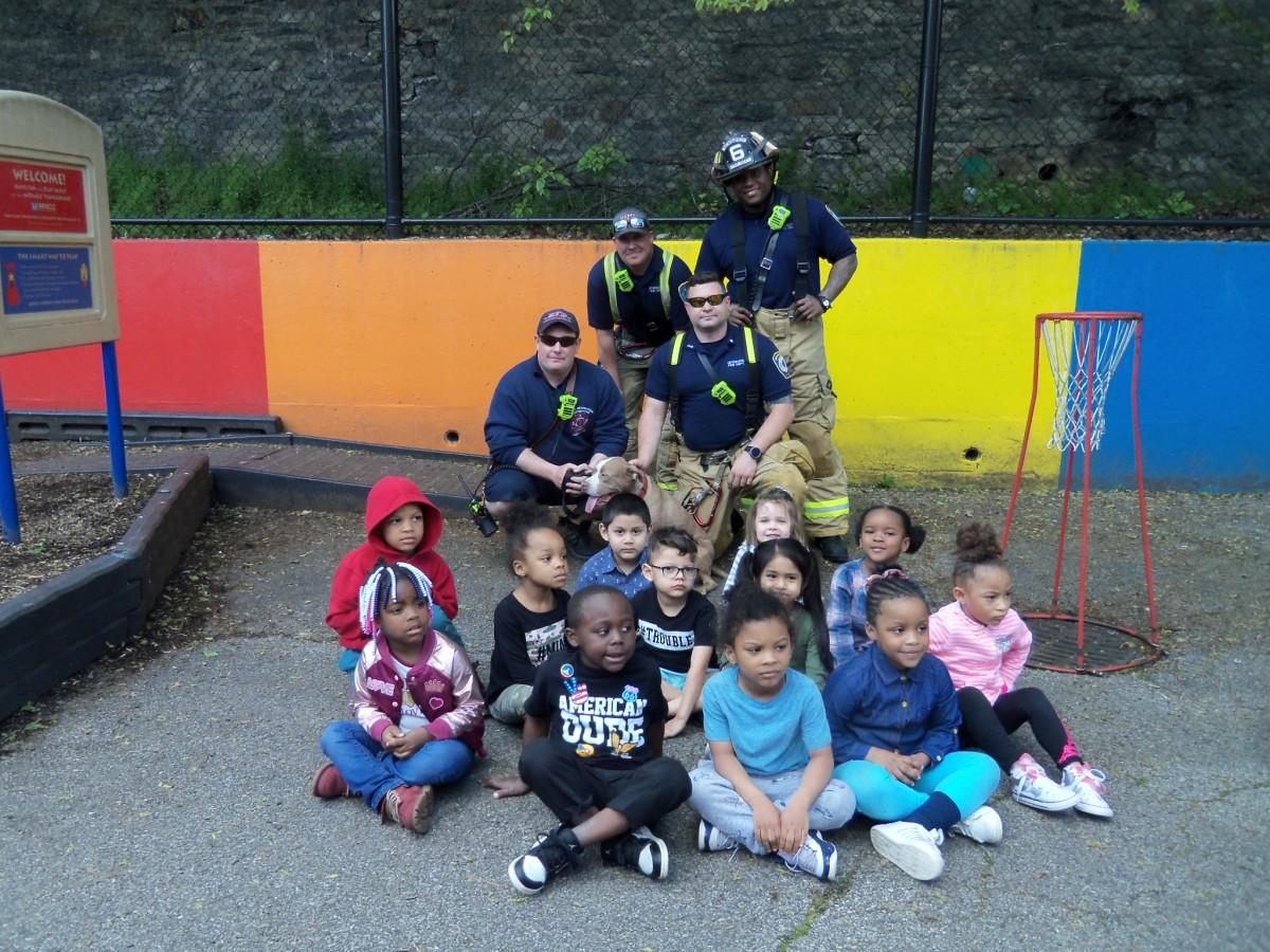Firemen at HOH Visit Pre-K